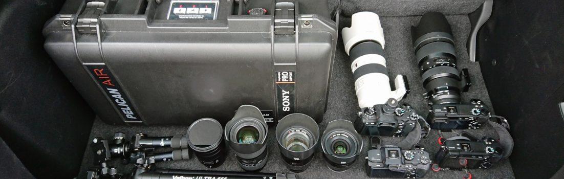 天売島に持ち込んだ撮影機材